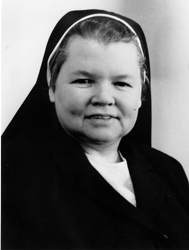 Black and white portrait of Sister Mary George O'Reilly