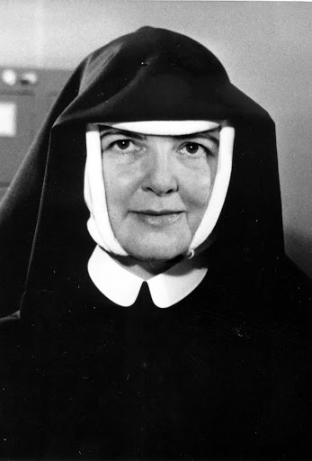 Black and white portrait of Mother Mary Aiden Cliggett