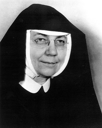 Black and white portrait of Mother Mary Boniface Henze