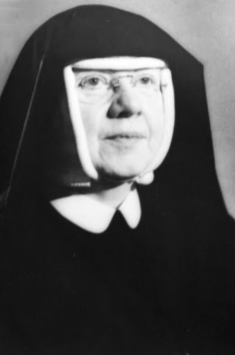 Black and white portrait of Mother Mary Cleophas Foy