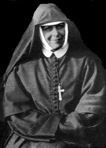 Black and white portrait of Mother Mary Dolores Brady