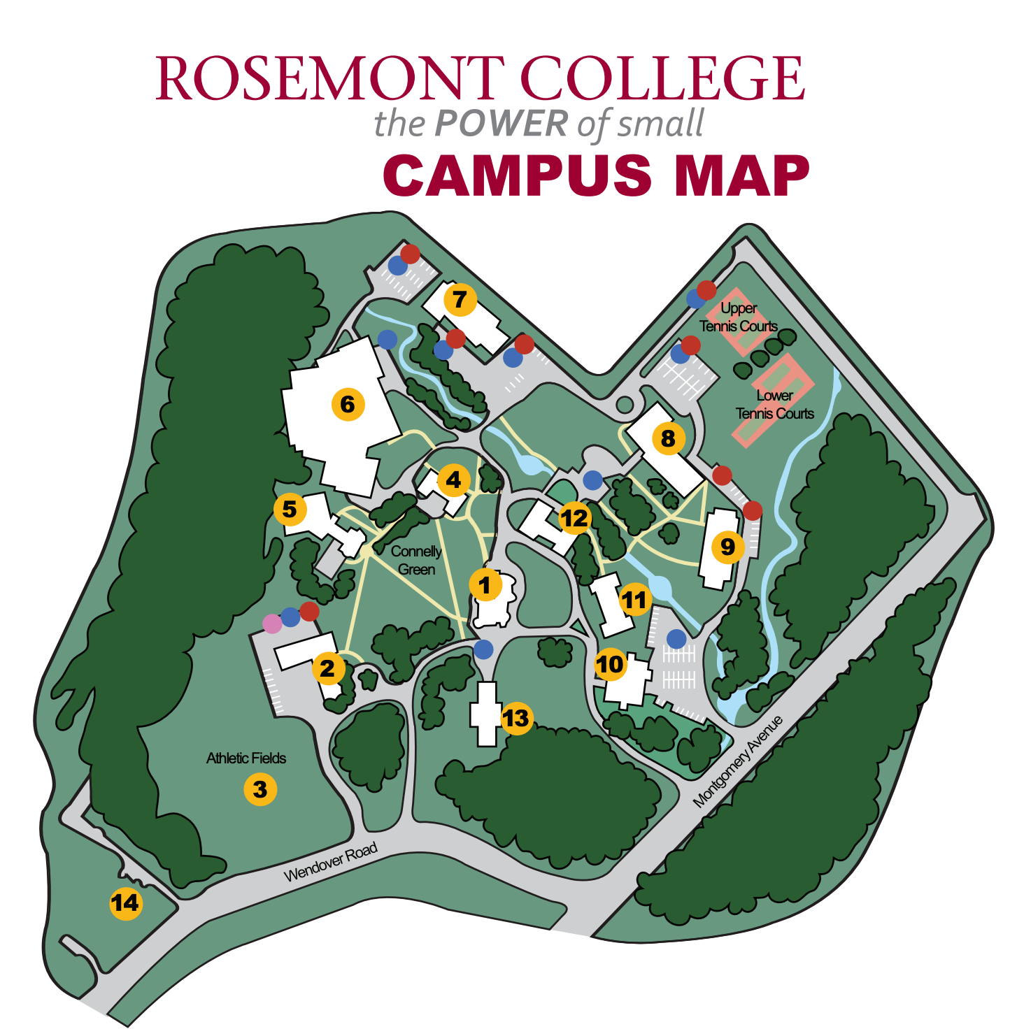Map of Rosemont Campus