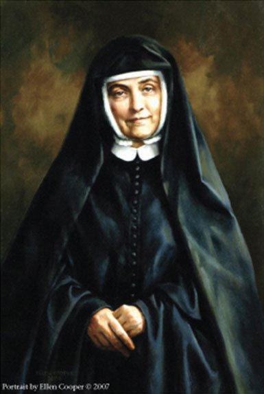 Painting of nun Cornelia Connelly, founder of Rosemont College.