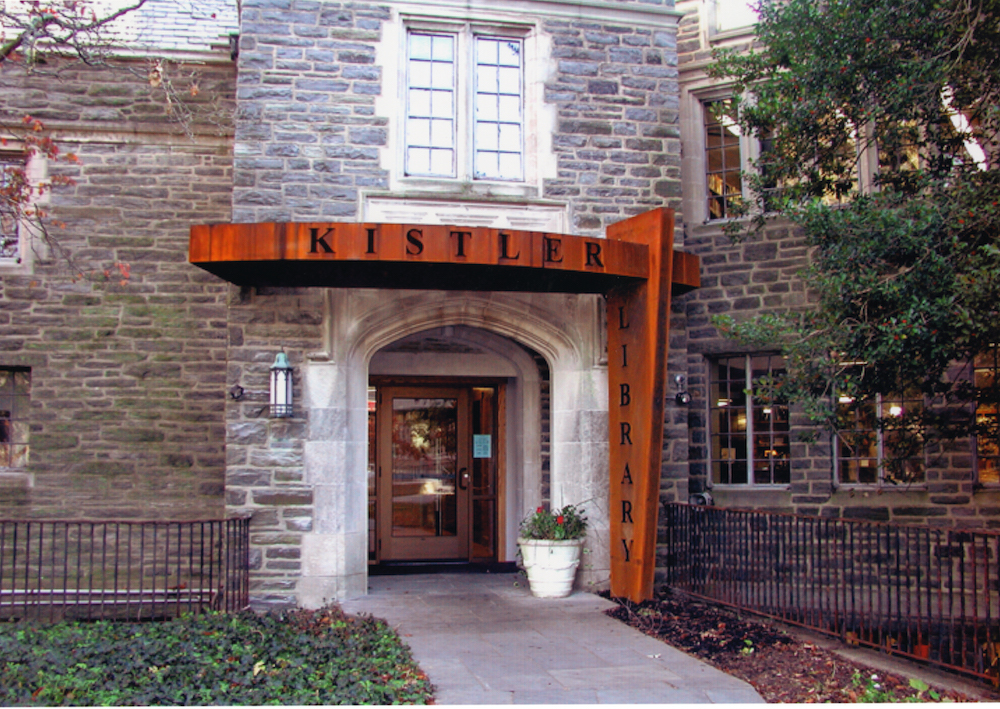 The new entrance to the Kistler Memorial Library.