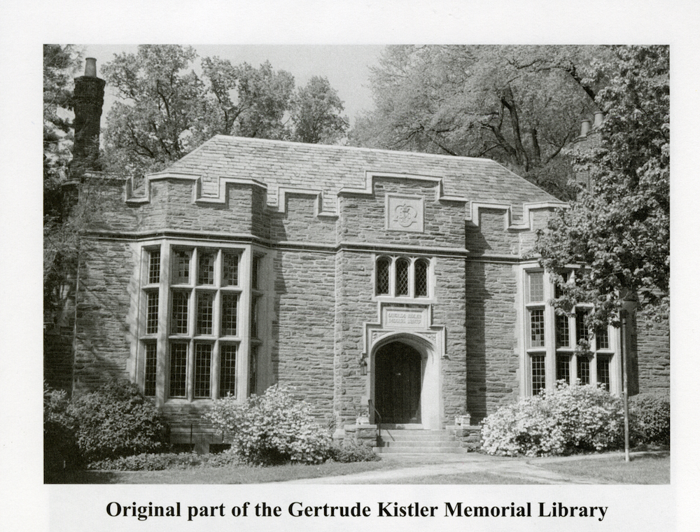 The original Gertrude Kistler Memorial Library