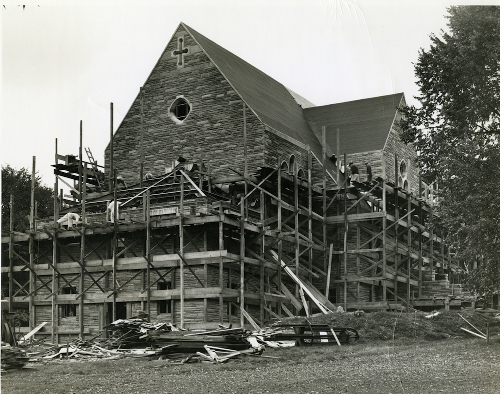 Chapel construction circa 1940.