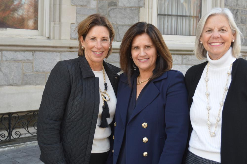 Susan Mellet Blumenthal, Tish Mack Grosek, and Marilyn Hurley Whiteman, alumnae from the 1980s, have reconnected as real estate agents and are helping people to find new homes in an unprecedented marketplace.