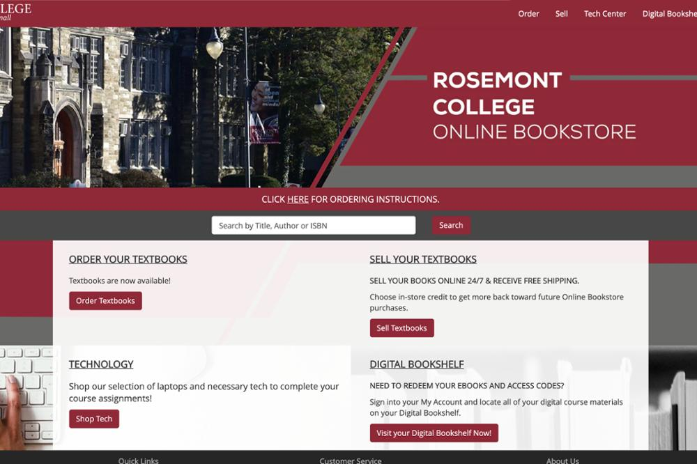 Rosemont will launch the new academic year with a new bookstore vendor. When BBA Corporation's contract expired in July, Rosemont selected eCampus as the new vendor for the on-campus store in the Sharon Latchaw Hirsh Community Center.