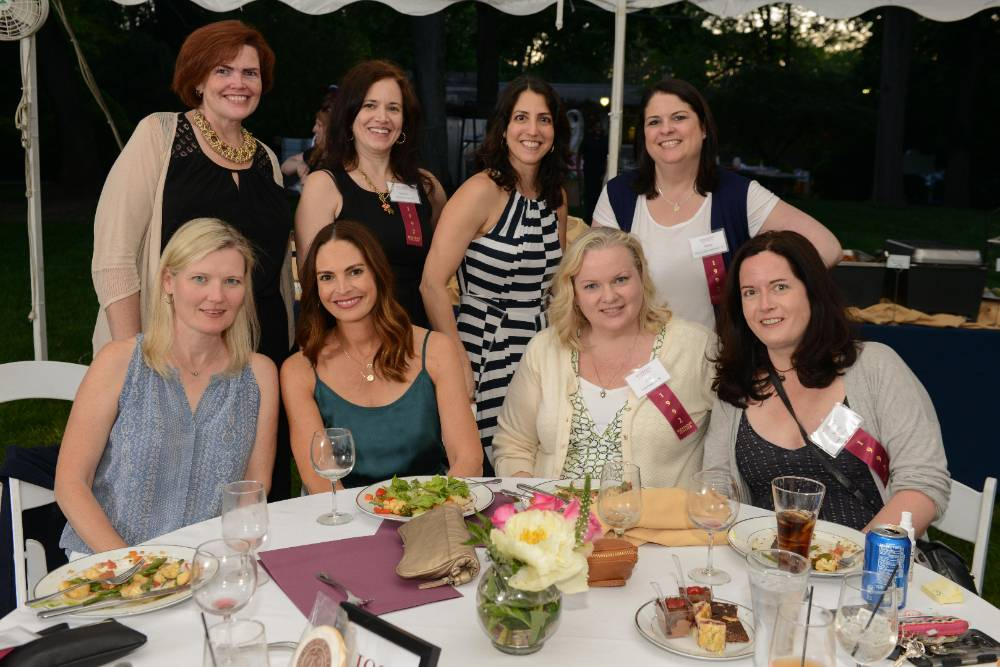Table of Rosemont Alumnae, ranging from their thirties to sixties.